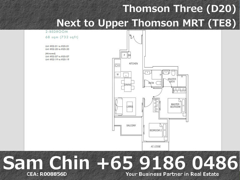 Thomson Three D20 Brand New 2 Bedroom Apartment With